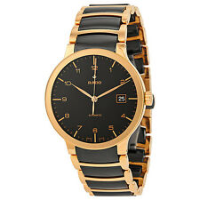 Rado Centrix Automatic Rose Gold and Black Ceramic Mens Watch R30953152