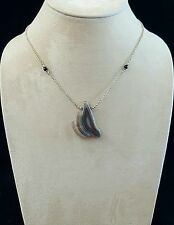 Necklace Features Botswana Agate Black Onyx 925 Sterling Silver Handcrafted USA