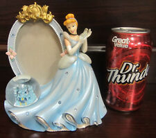 RARE Disney Princess Cinderella Castle Slipper Snowglobe Picture Photo Frame