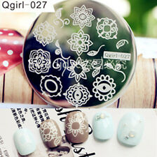 Nail Art Stamping Plate Image Stamp Template Beautiful Flowers Nail Decoration