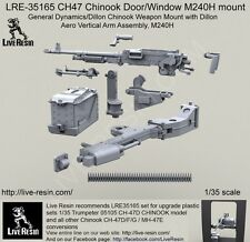 Live Resin 1/35 #35165 CH-47 Chinook Door/Window M240H Mount