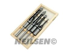 4pc Madera Cuadrado Carpintería barrena Drill Bit Set de 6 mm 10 mm 13 mm 16 mm De Madera Con Funda