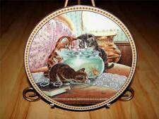 Pussyfooting Around, Fish Tales, Christine Wilson, Cat Kitten, Kitty Plate