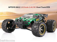 GPTOYS S912 1:12 4CH 2.4G 40km/h Remote Control Short Truck Off-road Car GREEN