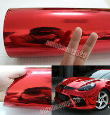 Entire Car Wrap - CBW Glossy Mirror Chrome Red Vinyl Sticker Decal / 50ft x 5ft