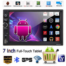 "Android 4.4 GPS Navi In-Dash 7"" Double 2 Din Car Stereo MP5 MP3 Player FM/USB/TV"