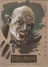 "Lord of the Rings Masterpieces - James Hodgkins""Orc"" RARE Level A Sketch Card"
