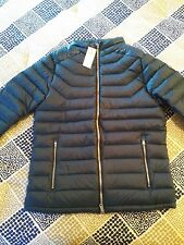 Abercrombie & Fitch Men's Lightweight Down Puffer Jacket- Blue- Medium