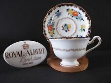 """Royal Albert CROWN CHINA C/S """"ROSE-MARIE"""" colorful flowers hand painted"""