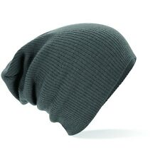 SLOUCH BEANIE - OVERSIZED BEANY HAT CAP - 4 COLOURS - KNITTED - FAST DISPATCH