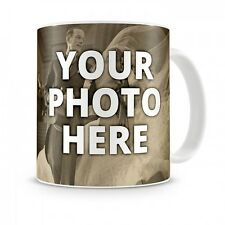 White Coffee mug cup custom photo name text logo personalized gift new Cera
