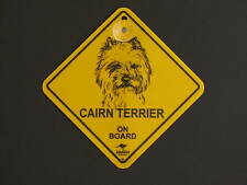 Cairn Terrier On Board Dog Breed Yellow Car Swing Sign Gift