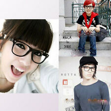 Trendy Cute Boys Girls Big Clear Lens Large Black Frame Glasses Spectacles