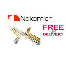 24x Quality Nakamichi Speaker banana plug 24k Gold plated connector **UK**