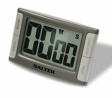 SALTER 396 CONTOUR KITCHEN COOKING TIMER - SILVER - 396 SVXR