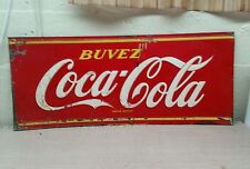 Vintage coca-cola push kiker plate TIN SIGN display soda