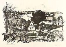 ROLAND GINZKEY - HAVELLANDSCHAFT - Kreidelithografie 1970