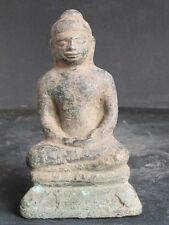 RARE Antique Bouddha en Bronze du Cambodge