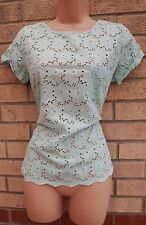 PAPAYA MINT GREEN FLORAL EMBROIDERED CROCHET  BLOUSE  TOP T SHIRT TUNIC 12 M