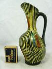 Asymmetrische 50er Jahre Design Schramberger Majolika Keramik Vase 4832 / 18