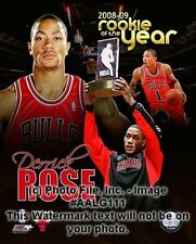 """DERRICK ROSE 2008 Rookie of the Year """"Chicago Bulls"""" LICENSED poster 8x10 photo"""