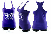Ladies Sweating For The Wedding Racerback Gym Workout training Black Top Vest