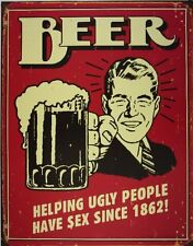 Funny Beer Tin Sign Vintage Retro Wall Art Bar Pub Man Cave Dorm Room Home Decor