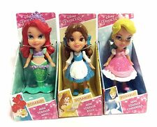 Disney NEW Princess ARIEL In Fin BELLE CINDERELLA Mini Toddler 3 Doll Figure Set