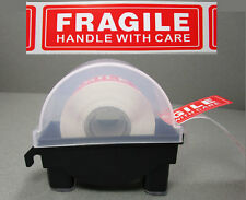 "1"" Label Sticker Roll Manual Dispenser & 250 1x3 Fragile Shipping Labels Combo"