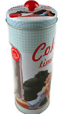 Coca Cola Retro Coke Vintage Lady Duck Egg Blue Straw Holder / Dispenser