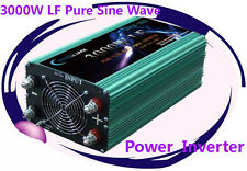 12000W Peak 3000W Low Frequency Pure Sine Wave Power Inverter 12VDC/110V AC 60Hz