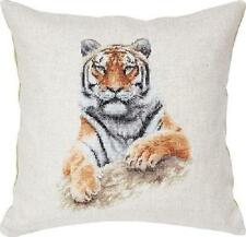 "Coussin Tiger Cross stitch kit par Luca-S 16 3/4 x 16 3/4 ""sur 25 count evenweave"