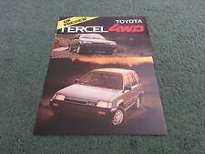 Motor Show 1982 / 1983 TOYOTA TERCEL 4WD ESTATE - UK COLOUR FOLDER BROCHURE