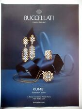 PUBLICITE-ADVERTISING :  BUCCELLATI Rombi Collection Icona  2014 Bijoux,Joailler