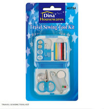Mini Travel Emergency Sewing Kit Case Needles Scissors Tape Pins Camping Holiday
