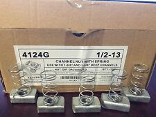 (#4124G) P1010 1/2-13 Hot Dip Galvanized Spring Nuts for Unistrut Channel 15/BOX