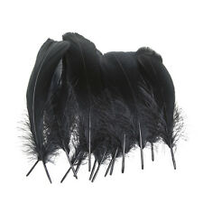 """100pcs Beautiful natural  black goose feathers 4-6"""" inches/10-15cm"""