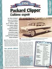 Packard Clipper Custom Type 5660 V8  1956 USA Car Auto Retro FICHE FRANCE