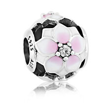 Genuine Pandora Sterling Silver Pink Magnolia Bloom Charm 792087PCZ Authentic