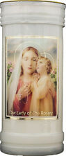 OUR LADY OF THE ROSARY DEVOTIONAL HOLY CANDLE 100's OF STATUES & PICTURES LISTED