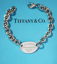 Tiffany & Co Sterling Silver Return To Tiffany Oval (NEW STYLE) Bracelet