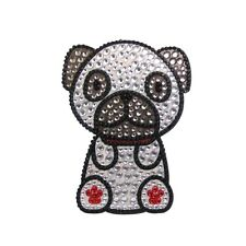 Pug Dog Rhinestone Glitter Jewel Phone Ipod Iphone Sticker Decal