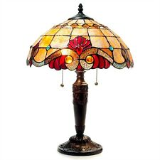 "CH15063AV15-TL2 Vivaldi Tiffany Style Stained Glass 2-Lt Table Lamp W 15"" Shade"