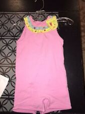 6 9 m Me TOo pink outfit ruffle collar flower VGUC boutique