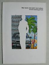 Prospekt Volkswagen - VAG Leasing Privat, 7.1991, 16 Seiten