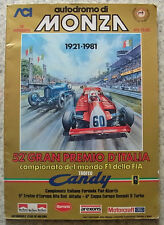 ITALIAN GRAND PRIX FORMULA ONE F1 1981 MONZA Official Programme