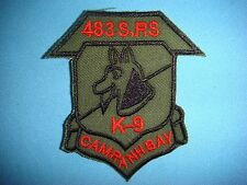 VIETNAM WAR GR PATCH, US 483rd SECURITY POLICE SQUADRON K-9 AT CAM RANH BAY