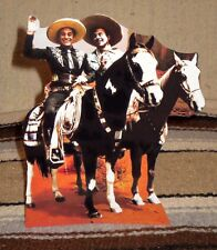 """Cisco Kid and Poncho TV Western Tabletop Display Standee 9 1/2"""" Tall"""