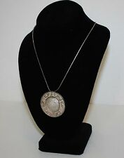 Mayan Calendar Pendant Brooch With Necklace Sterling Silver 925 Eagle Mark 28