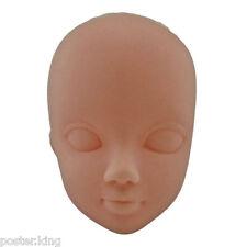 White Skin OOAK 1/6 Scale Nude Doll Head Parts Repair Practice Makeup
